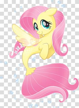 Fluttershy Pony Pinkie Pie Applejack Spike, My little pony PNG clipart