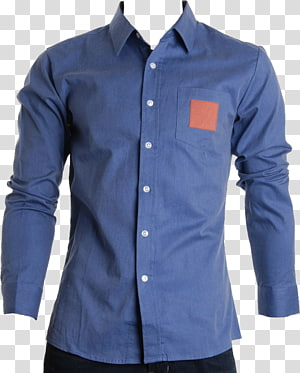 blue dress shirt, T-shirt Dress shirt, Dress shirt PNG