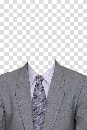 gray notched lapel suit jacket , Suit Dress, Wise Man PNG
