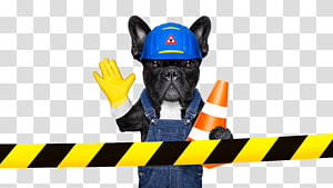 Dog Architectural engineering Illustration, Creative puppy anthropomorphic design PNG