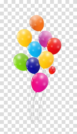 Balloon Color , Colorful balloons PNG clipart
