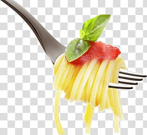 pasta of fork, Pasta on Fork PNG
