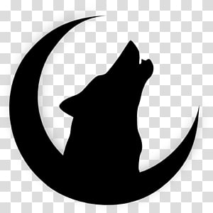 Gray wolf Drawing Moon Silhouette, moon PNG