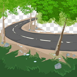 Landscape Road Illustration, road PNG clipart