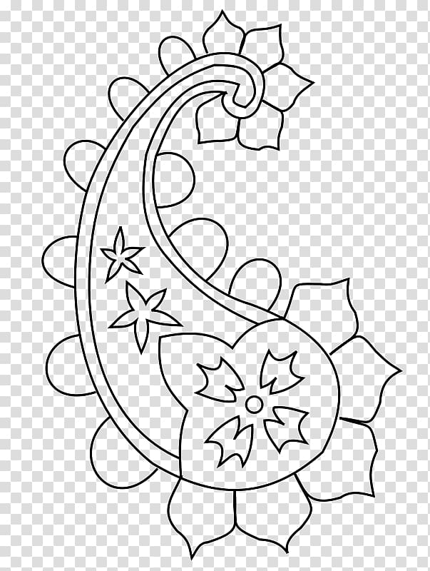 Drawing Paisley Floral design , others PNG