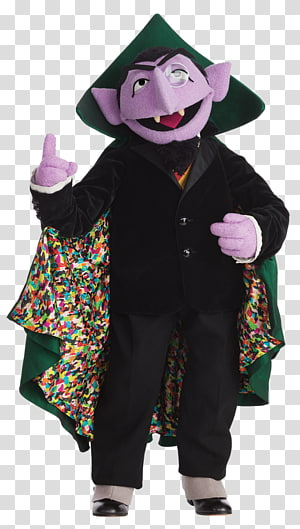 Count von Count Dracula Costume The Muppets Puppet, big post it note costume PNG clipart