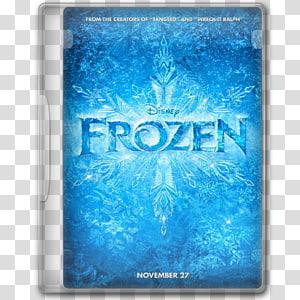 Disney Frozen Blu-ray case, aqua font, Frozen 1 PNG clipart
