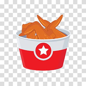 Fried chicken Buffalo wing Chicken nugget, A bucket of fried chicken wings, Star paper boxes PNG clipart