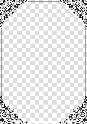 black line frame PNG