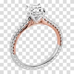 Engagement ring Gold Wedding ring Diamond, creative wedding rings PNG
