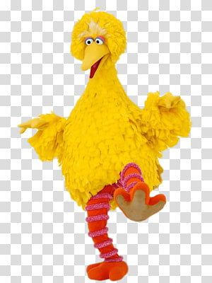 Sesame Street Big Bird, Sesame Street Big Bird on One Leg PNG