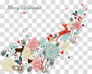 multicolored Merry Christmas deer illustration, Santa Claus Christmas Vintage clothing , Creative Christmas PNG clipart