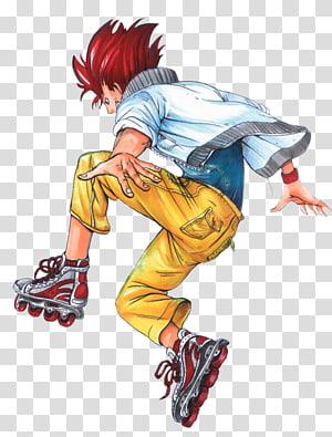 Cartoon Shoe Legendary creature, roller skater PNG