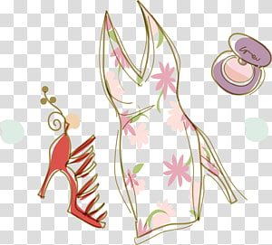 Drawing Fashion illustration Clothing Accessories Illustration, Fashion girl material PNG