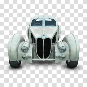 vintage grey car, wheel automotive exterior car brand, White Dugatti PNG clipart