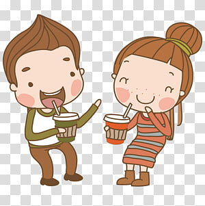 Significant other Dating Cartoon Illustration, Cartoon couple PNG clipart