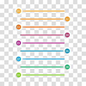 assorted-color line icons, Angle Area Font, PPT element PNG