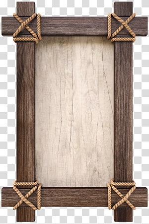 brown wooden frame, Wood, Vintage wood PNG clipart