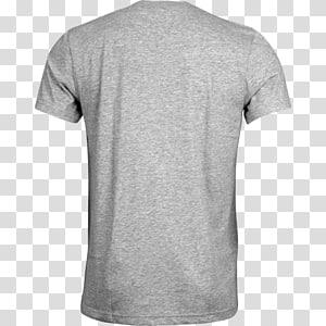 gray t-shirt, Tshirt Grey Back PNG clipart