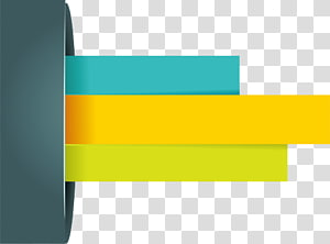 green, yellow, and teal bar illustration, elements PPT PNG clipart