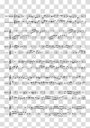 Sheet Music Clarinet Alto saxophone, disney pirate PNG clipart