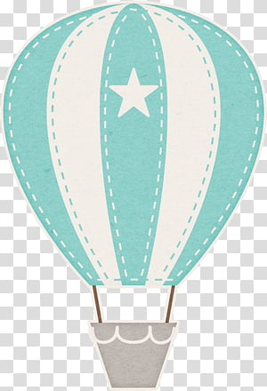 white and blue hot air balloon illustration, Hot air balloon Child , watercolor bear PNG clipart