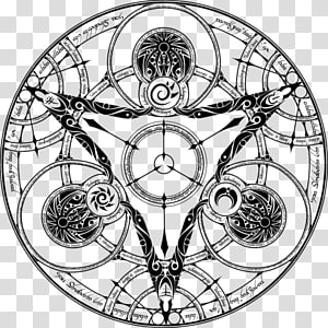 Magic circle Drawing Alchemy Symbol, circle PNG clipart