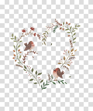 heart-shaped flower vine PNG clipart