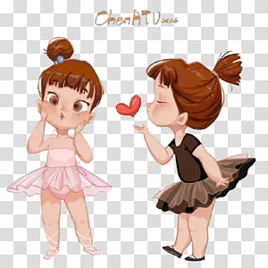Child Girl Cartoon Illustration, Ballet girl PNG