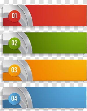 Chart Element, PPT element, red 1, green 2, orange 3, and blue 4 illustration PNG