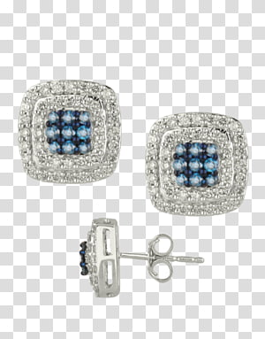 Sapphire Earring Jewellery Diamond Colored gold, diamond stud PNG