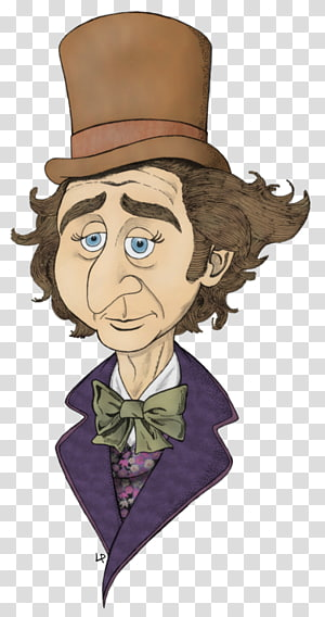 Willy Wonka & the Chocolate Factory Gene Wilder Drawing Cartoon, others PNG clipart