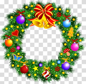 Christmas Wreath Garland , Christmas wreath PNG
