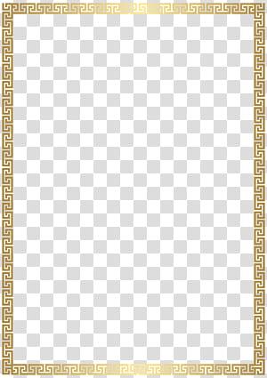Rectangle Gold, Golden Deco Border , gold-colored frame illustation PNG