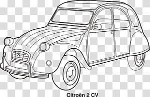 Citroën 2CV Classic car Drawing, citroen PNG clipart