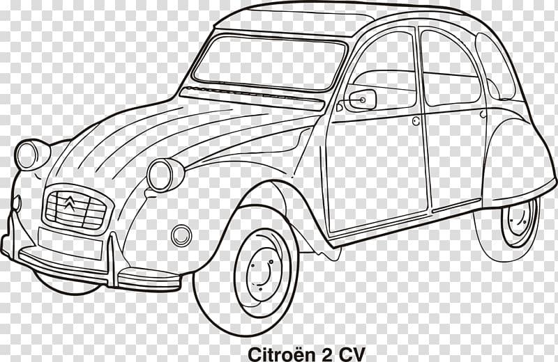 Citroën 2CV Classic car Drawing, citroen PNG