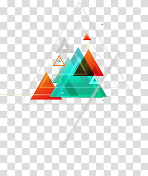 assorted triangle , Geometry Triangle Abstraction Euclidean , Colorful abstract geometric triangle PNG
