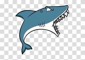 gray and white shark illustration, Shark attack , cartoon shark PNG clipart