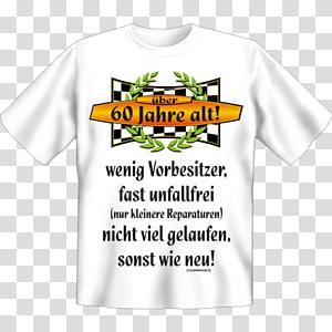 T-shirt Birthday Gift Sleeve Bluza, 60 geburtstag PNG