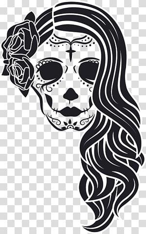 La Calavera Catrina Decorative arts Skull, la catrina PNG